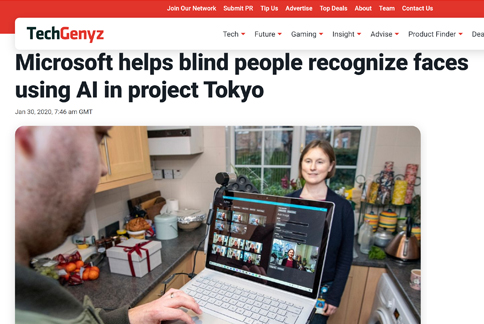 Screenshot of the news break article about project tokyo
